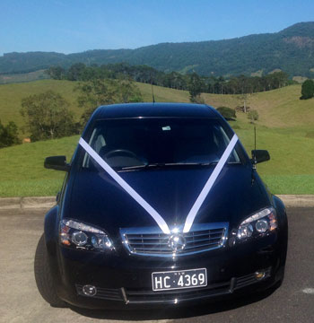 black wedding car gold coast